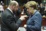 A l'approche des législatives du 24 septembre, une « spectaculaire remontée sondagière a redonné aux sociaux-démocrates allemands un espoir qu'ils avaient perdu depuis la défaite de l'ancien chancelier Gerhard Schröder, en 2005» (Martin Schulz et Angela Merkel, le 19 décembre 2013, à Bruxelles).
