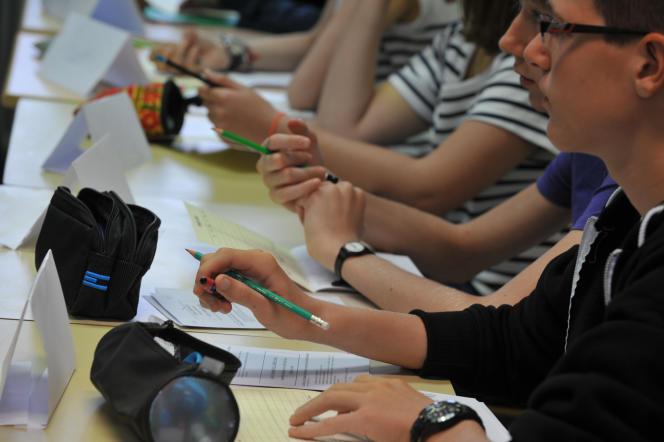 Il ne reste que deux mois de cours aux 800000 élèves de troisième avant le bond vers le lycée (photo d'illustration).