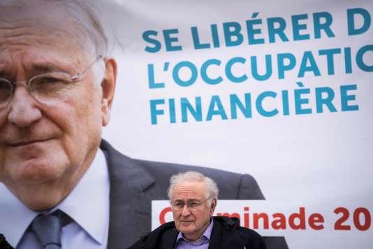 Jacques Cheminade, à Bondy, le 24 mars.