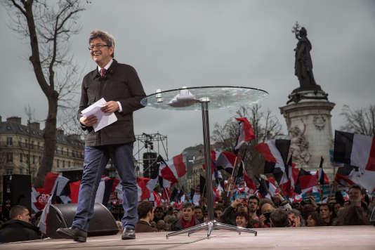 Jean-Luc Melenchon, le 18 mars, place de la République.