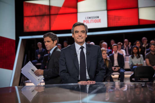 François Fillon, le 23 mars, sur le plateau de« L'Emission politique», de France 2.