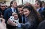 Visite d'Emmanuel Macron à Villers-Cotterêts vendredi 17 mars 2017.