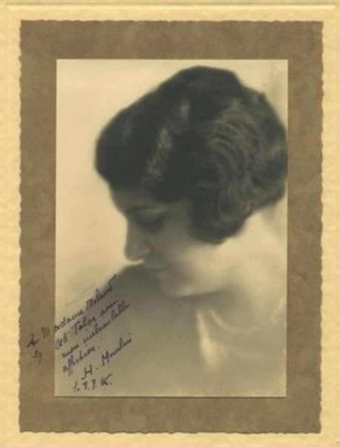 La Tunisienne féministe Habiba Menchari dans les années 1910.