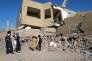 Une école détruite à Taëz, au Yémen, le 16 mars.