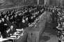 Le 25 mars 1957, au Capitole, à Rome, les ministres des « six » signent les traités instituant la Communauté Economique Européenne (CEE) et la Communauté Européenne de l'Energie atomique (EURATOM)