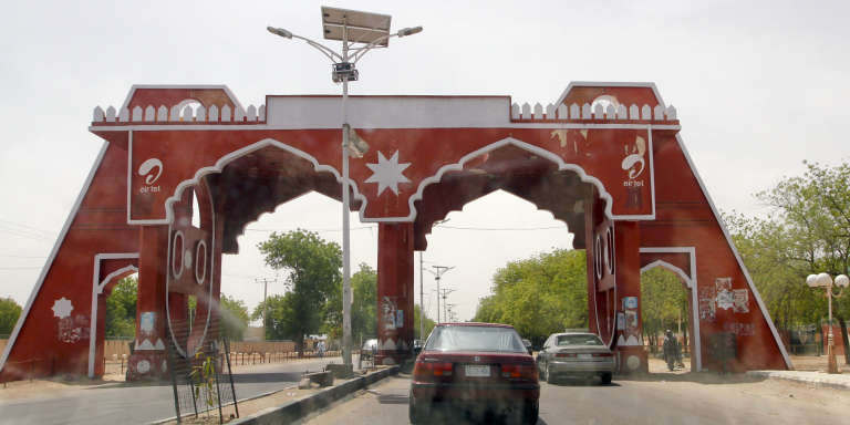 L'une des portes d'entrée de la ville de Maiduguri, capitale de l'Etat de Borno, dans le nord-est du Nigeria, en mai 2013.