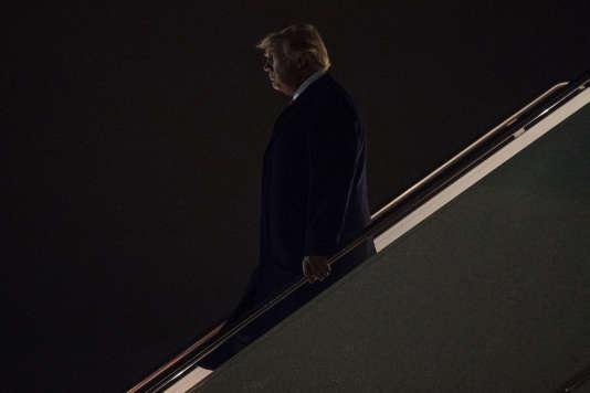 Donald Trump, sur la base mlitaire d'Andrews, dans le Maryland, le 20 mars.