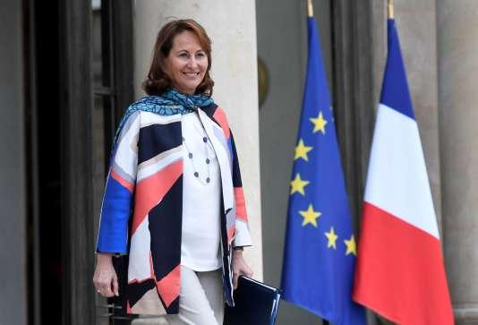 La ministre de l'écologie, du développement durable et de l'énergie Ségolène Royal au palais de l'Elysée le 22 mars.