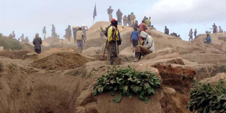 Mine de coltan, près de Rubaya, en République démocratique du Congo, en 2013.