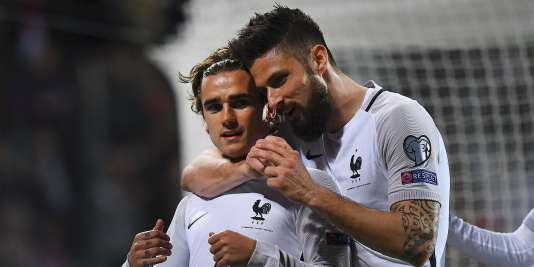 Griezmann et Giroud ont inscrits les buts des Bleus face au Luxembourg.