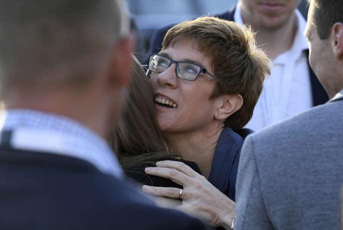 Annegret Kramp-Karrenbauer, la candidate de la CDU, le parti d'Angela Merkel, dans la Sarre, dimanche 26 mars.