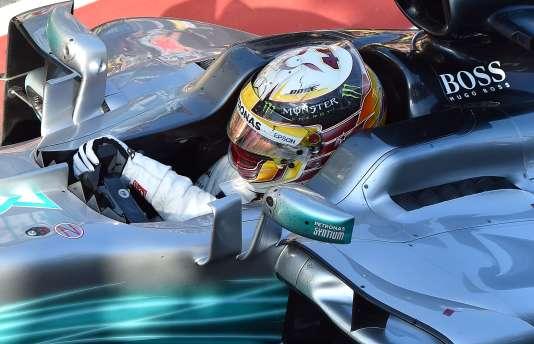 Lewis Hamilton finit deuxième du Grand Prix d'Australie, le 26 mars à Melbourne.
