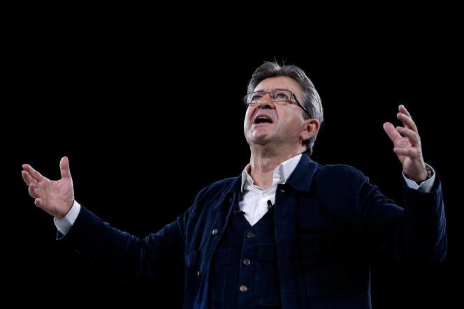 Jean-Luc Mélenchon, le 26 mars à Rennes.