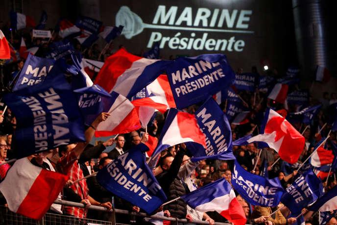 Meeting de Marine Le Pen, à Lille, le 26 mars.