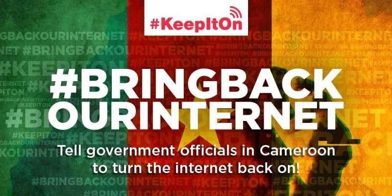 Le hashtag « Rendez-nous notre Internet ».