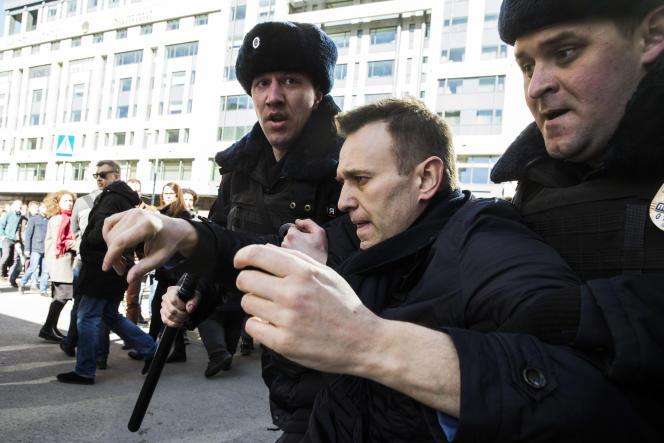 Alexeï Navalny, le 26 mars à Moscou.