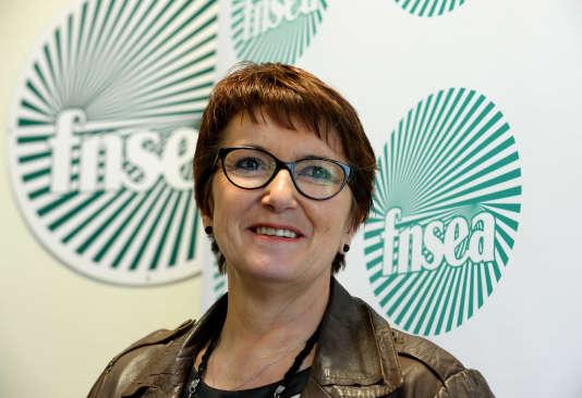 Christiane Lambert, première vice-présidente de la FNSEA, brigue la tête de l'organisation syndicale agricole.