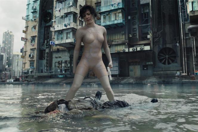 Scarlett Johansson dans le rôle du Major dans« Ghost in the Shell», de Rupert Sanders.