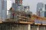 Le chantier de la piscine des Jeux asiatiques de 2018 au complexe sportif Senayan à Jakarta, le 24 mars.