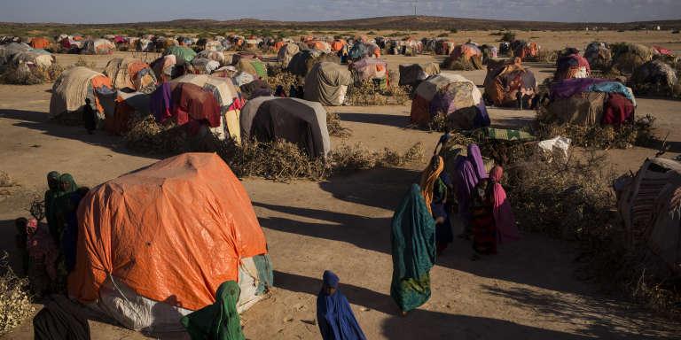 Un camp à proximité d'Ainabo. Ces trois derniers mois, 447 familles d'éleveurs s'y sont installées à la suite de la sécheresse.