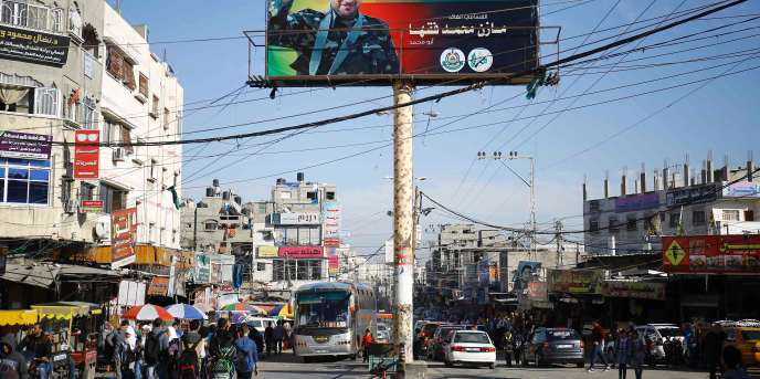 Une rue de la bande de Gaza, le 27 mars.