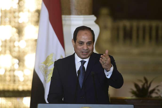 Le président égyptien Al-Sissi, le 2 mars, au Caire.