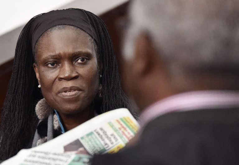 Simone Gbagbo, lors de son procès, le 30juin 2016, au tribunal d'Abidjan.