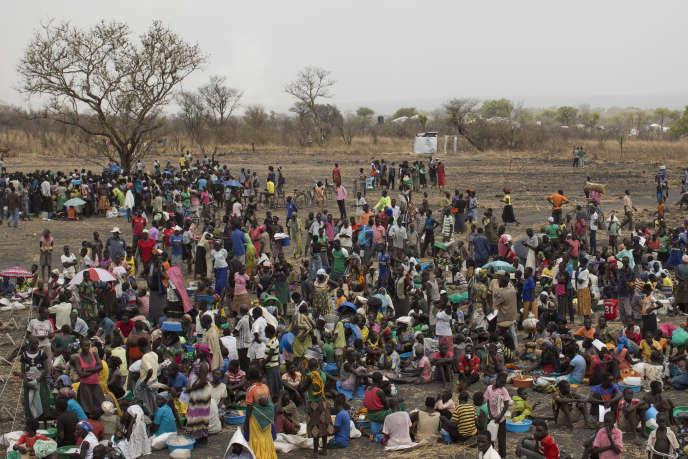 Selon l'ONU,plus de 1,5 million de demandeurs d'asile sud-soudanais se sont réfugiés en Ouganda depuis que la guerre civile a éclaté dans leur pays, en décembre 2013. Ici,à Palorinya (Ouganda), le 25 février.