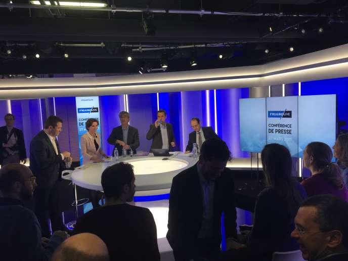 Sur le plateau du Figaro Live, le 27 mars 2017.