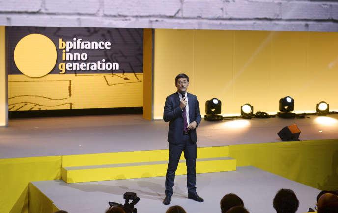 Nicolas Dufourcq, directeur général de Bpifrance, lors de l'événement Inno Generation organisé par la banque publique d'investissement, le 25 mai 2016.