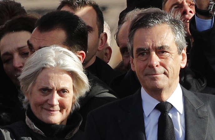 Penelope et François Fillon, à paris, le 5 mars 2017.