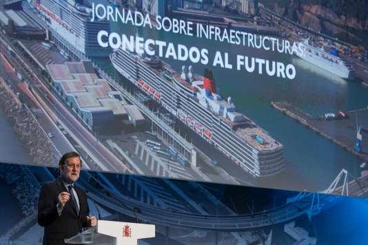 Mariano Rajoy, mardi 28 mars à Barcelone.