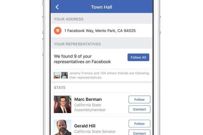 Le« Town hall» de Facebook.