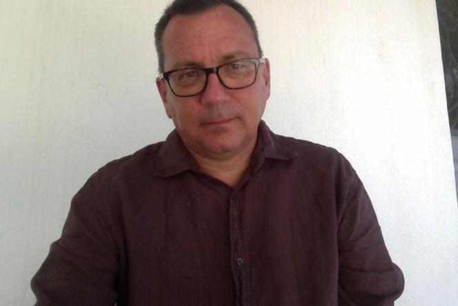 L'écrivain Jérôme Leroy, 2014.