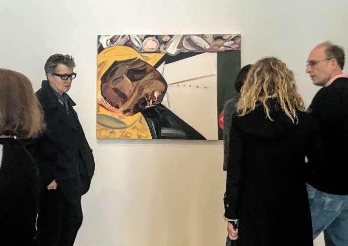 Le tableau de l'artiste Dana Schutz «Open Casket» représentant un adolescent noir tué par des suprématistes exposé à la Biennale du Whitney Museum.