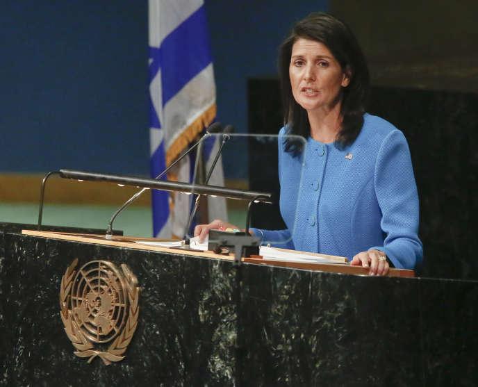 L'ambassadrice américaine auprès de l'ONU, Nikki Haley, à New York le 29 mars.