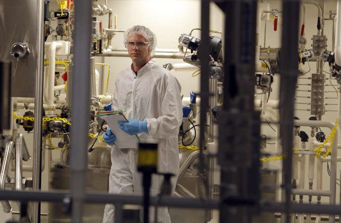 Le site de fabrication de Genzyme, à Boston (Massachusetts), en mai 2010, avant le rachat de la biotech par Sanofi en 2011.
