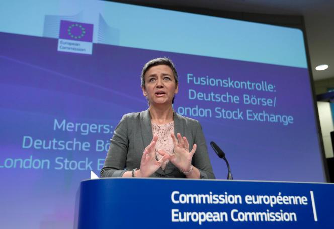 La commissaire européenne à la concurrence, Margrethe Vestager, le 29 mars, à Bruxelles.