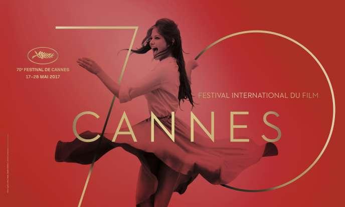 Détail de l'affiche du 70e Festival de Cannes avec la photo de Claudia Cardinale.