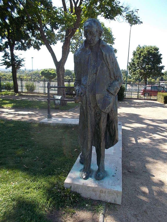 La statue de Georg Lukacs, dans le parc Szent-Istvan, à Budapest, en 2015.