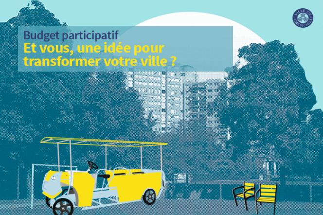 Affiche de la campagne pour le budget participatif de la ville de Grenoble.