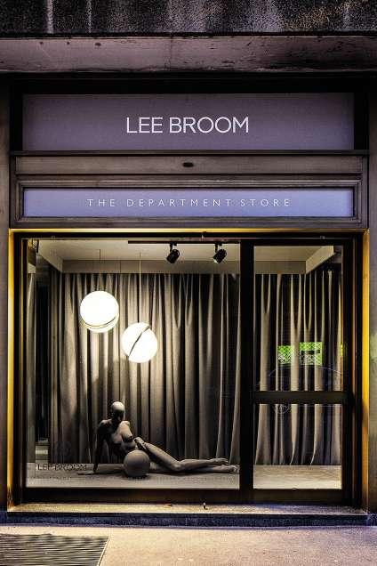 Lee Broom a investi en 2015 un alignement de boutiques vides dans le quartier milanais de Centrale.
