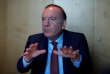 French employers body MEDEF union leader Pierre Gattaz gestures as he attends an interview with Reuters in Paris, France, March 30, 2017. REUTERS/Gonzalo Fuentes