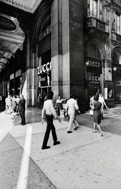 La Galleria Vittorio EmanueleII, à Milan, en 1971.