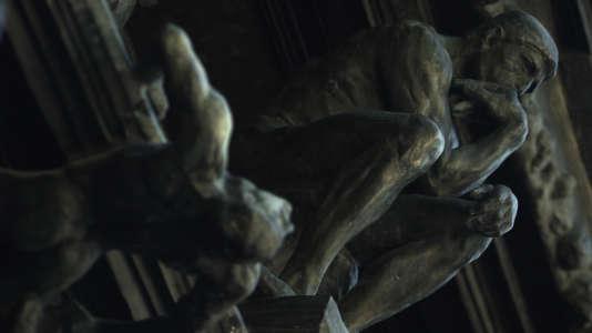 Détail de «La Porte de l'Enfer», d'Auguste Rodin.
