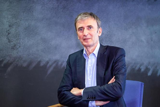 Brice Teinturier, directeur général délégué de l'institut de sondages Ipsos, dans les locaux du «Monde», le 30 mars.