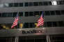 NEW YORK, NY - JANUARY 16: Flags fly above the entrance of the BlackRock offices on January 16, 2014 in New York City. Blackrock posted a 22 percent increase in the most recent quarterly profits announcement. Andrew Burton/Getty Images/AFP