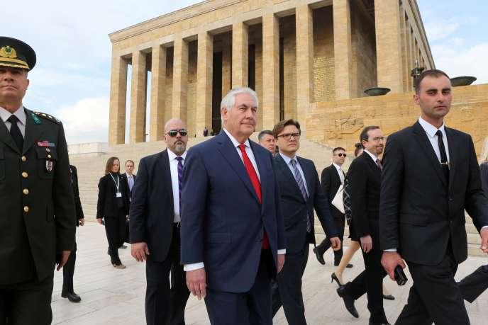 le secrétaire d'Etat Rex Tillerson à Ankara, le 30 mars.