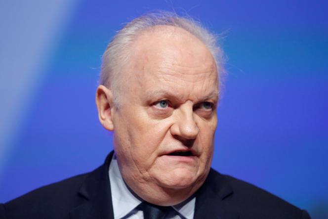 Francois Asselineau, le 30 mars, à Brest, lors du congrès annuel de la FNSEA.