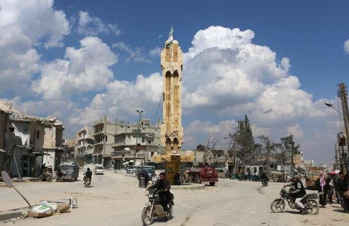 La Syrie a subi de nombreuses destructions, comme ici à Al-Bab.